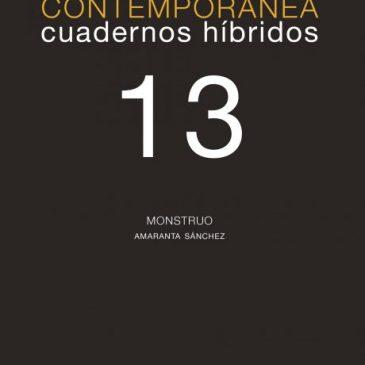 Investigación visual contemporánea. Cuadernos híbridos 13: Monstruo